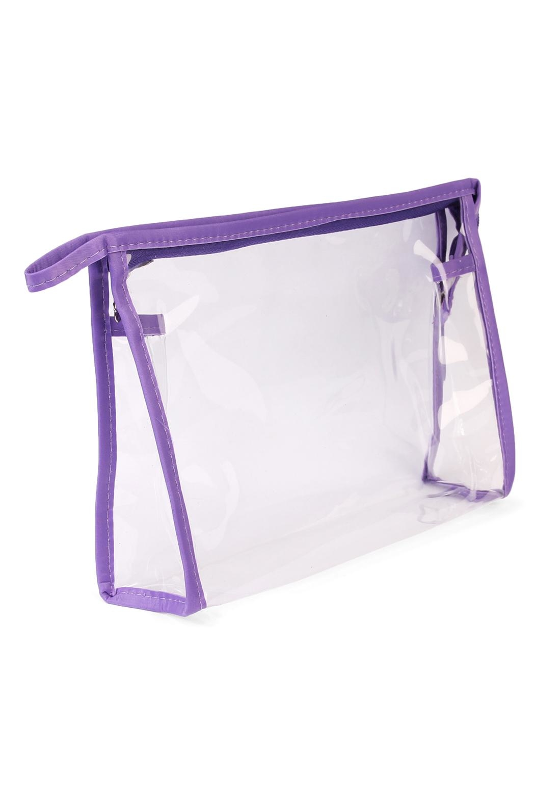 Riah Fashion Clear Cosmetic Bag - Side Cropped Image