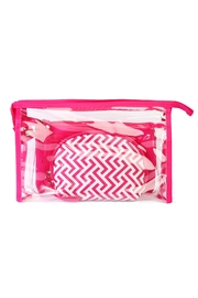 Riah Fashion Clear Cosmetic Bag - Front full body
