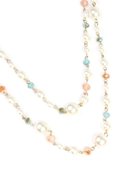 Riah Fashion Pastel Bead Pearl-Necklace - Front full body