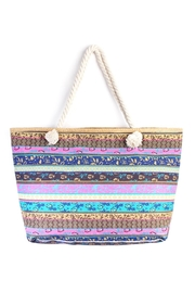 Riah Fashion Pattern Striped Tote - Product Mini Image