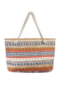 Shoptiques Product: Pattern Striped Tote Bag