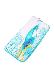 Riah Fashion Peacock Print Wallet - Product Mini Image