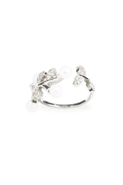 Riah Fashion Pear Leaf  Ring - Product Mini Image
