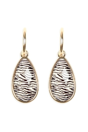 Riah Fashion Pear Shaped Animal Print Earrings - Product Mini Image
