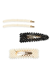 Riah Fashion Pearl And-Glass-Beads Hair-Pin-Set - Product Mini Image