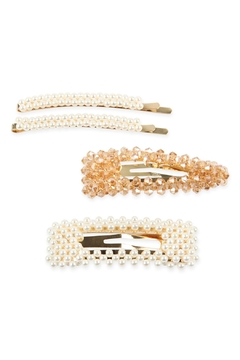 Riah Fashion Pearl And-Glass-Beads Hair-Pin-Set - Product List Image
