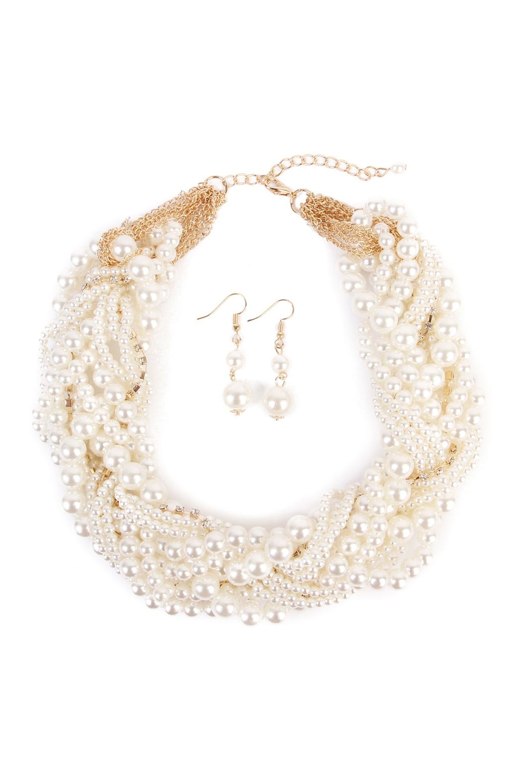 Riah Fashion Necklace Earrings Set - Main Image