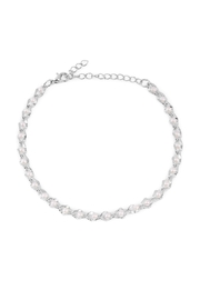 Riah Fashion Pearl Chain Anklet - Front cropped