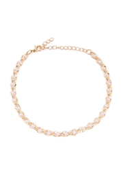 Riah Fashion Pearl Chain Anklet - Product Mini Image