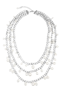 Riah Fashion Pearl Chain Necklace - Product List Image