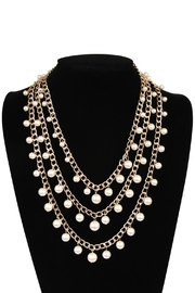 Riah Fashion Pearl Chain Necklace - Front full body