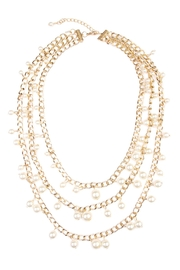 Riah Fashion Pearl Chain Necklace - Product Mini Image