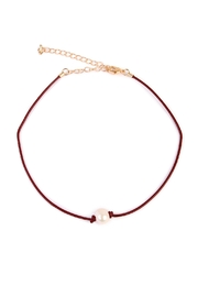 Riah Fashion Pearl Cord Choker - Product Mini Image