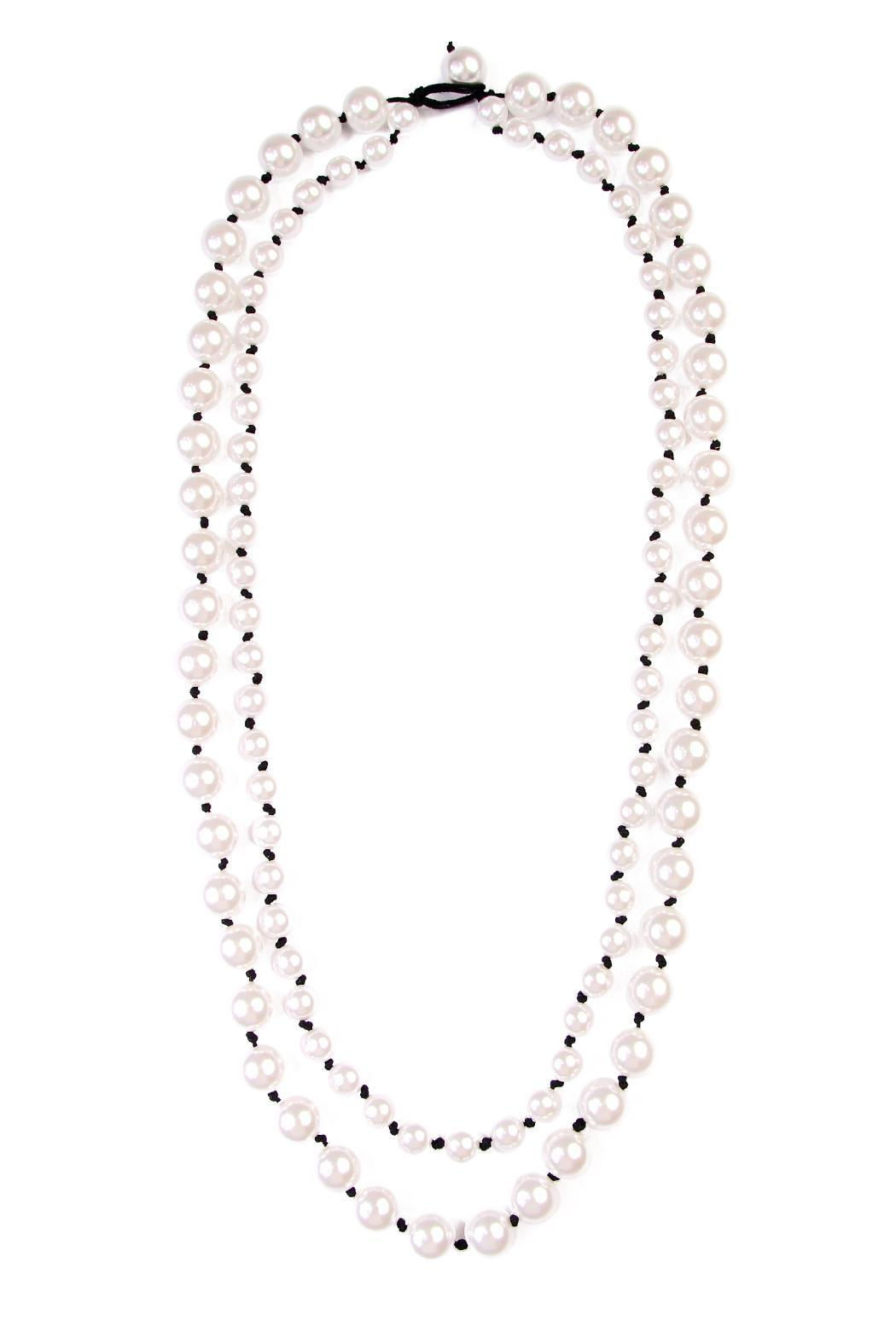 Riah Fashion Pearl Double Necklace - Main Image