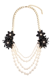 Riah Fashion Pearl Floral-Accent Necklace - Product Mini Image