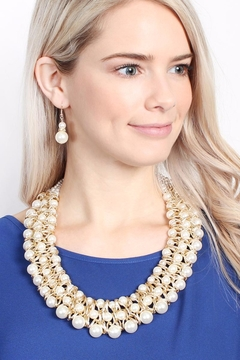Riah Fashion Pearl-&-Goldtone-Twist Necklace-Earring-Set - Alternate List Image