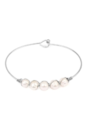 Riah Fashion Pearl-Goldtone Wired Bracelet - Product Mini Image