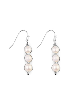 Shoptiques Product: Pearl-Goldtone Wired Wrap-Earrings