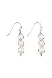 Riah Fashion Pearl-Goldtone Wired Wrap-Earrings - Product Mini Image