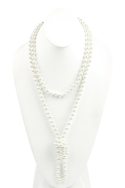 Riah Fashion Pearl-Knotting-Necklace With-Earrings-Set - Product Mini Image