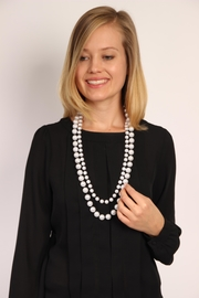 Riah Fashion Pearl Layered Necklace - Front full body