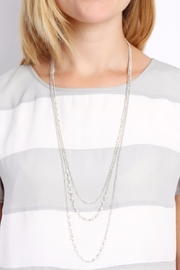 Riah Fashion Pearl Layering Necklace - Side cropped