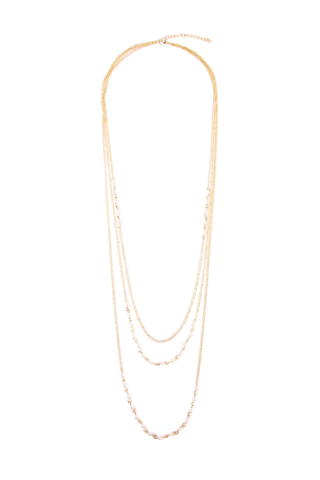 Riah Fashion Pearl Layering Necklace - Front Cropped Image