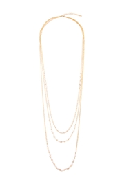 Riah Fashion Pearl Layering Necklace - Front cropped