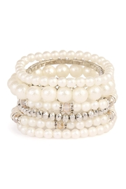 Riah Fashion Pearl Multibeded Bracelet - Front cropped