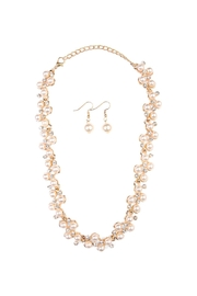 Riah Fashion Pearl Necklace Earrings Set - Product Mini Image
