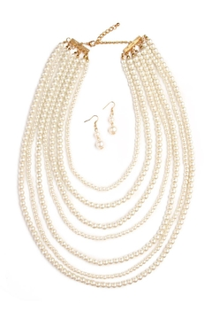 Riah Fashion Pearl Necklace Set - Alternate List Image