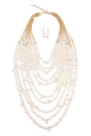 Riah Fashion Pearl Necklace Set - Product Mini Image