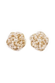 Riah Fashion Pearl Oversize Clip In Earrings - Product Mini Image