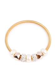 Riah Fashion Pearl Rhinestone Bracelet - Product Mini Image