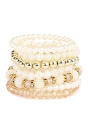 Riah Fashion Rhinestone Multi Beaded Bracelet - Product Mini Image
