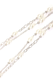 Riah Fashion Pearl & Silvertone-Layer-Necklace - Side cropped