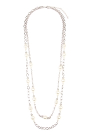 Riah Fashion Pearl & Silvertone-Layer-Necklace - Front cropped