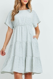 Riah Fashion Pebble-Print-Tiered-Ruffle-Dress - Front cropped