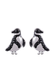 Riah Fashion Penguin Rhinestone-Stud-Earrings - Front cropped