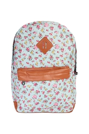 Riah Fashion Dainty Floral Print Backpack - Product Mini Image