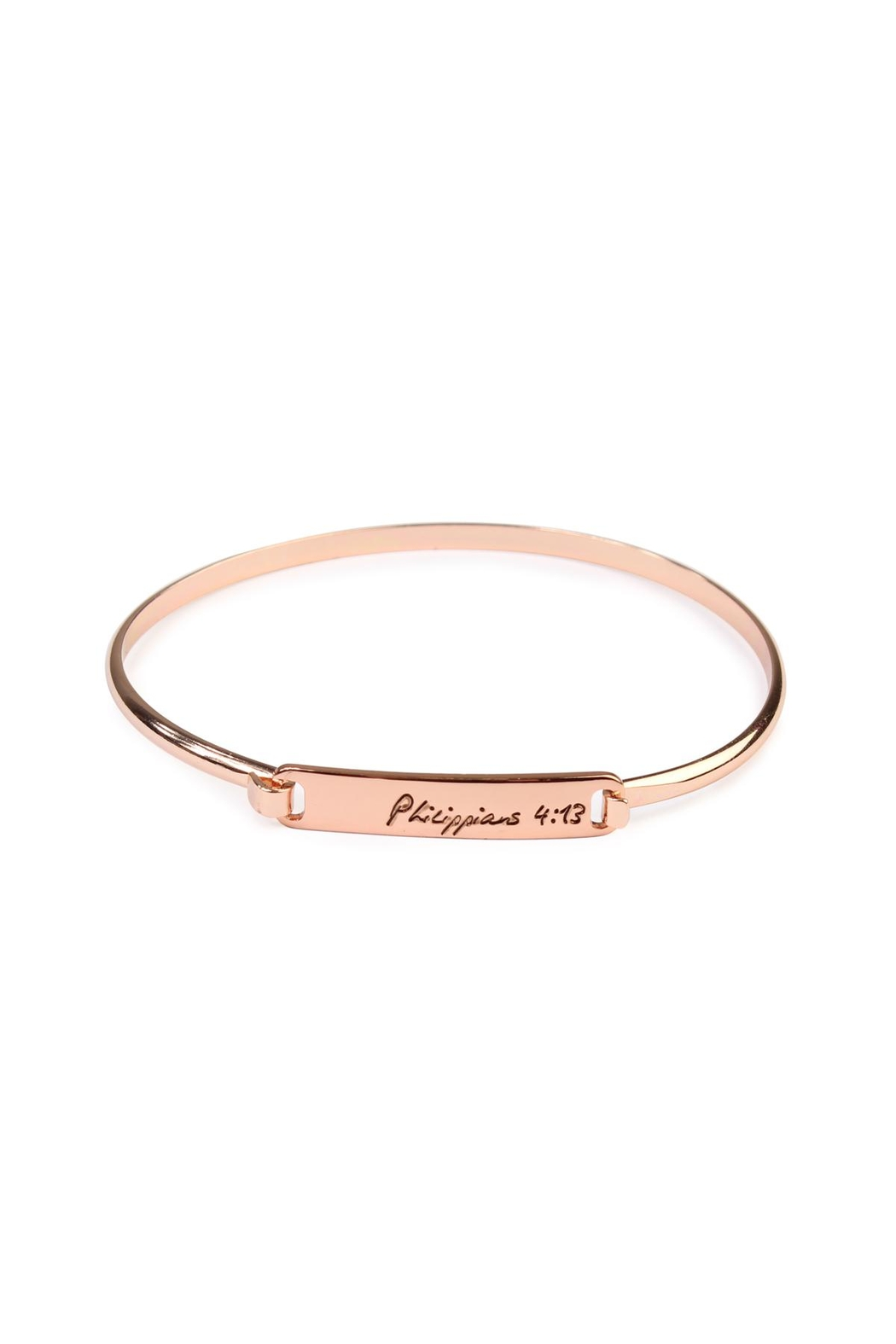 Riah Fashion Philippians-Hinge Plated Bracelet - Main Image