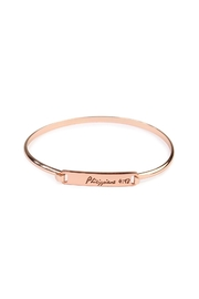 Riah Fashion Philippians-Hinge Plated Bracelet - Front cropped
