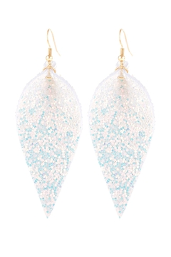 Shoptiques Product: Pinched-Sequin-Leather-Drop-Earrings