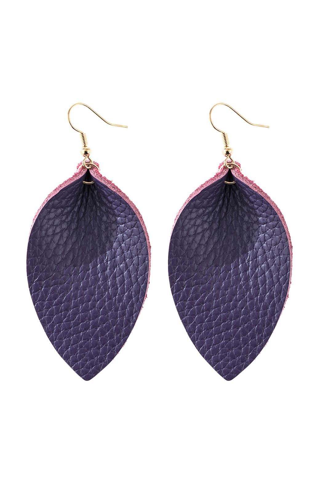 Riah Fashion Pinched Teardrop-Hook Drop-Earring - Front Cropped Image