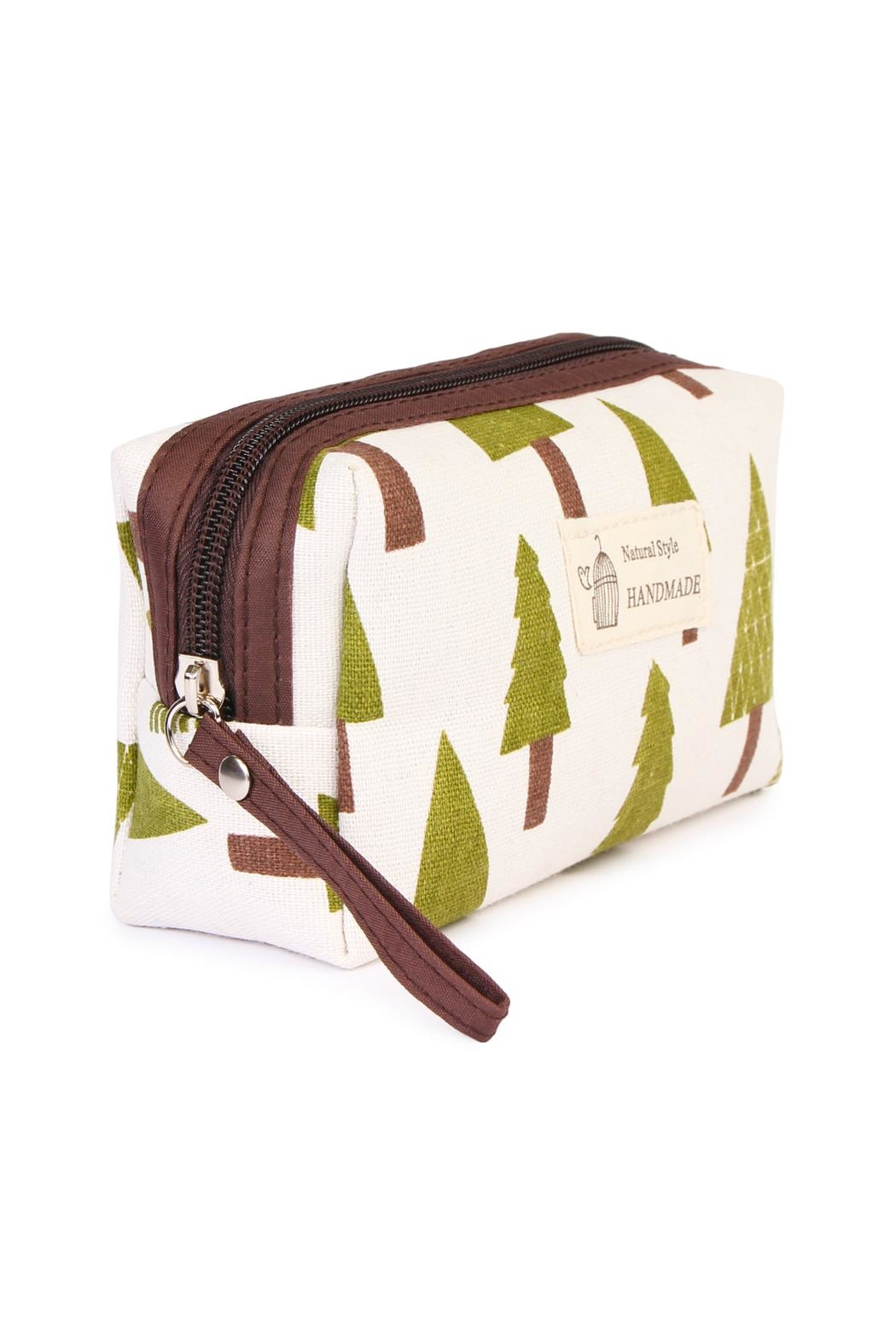 Riah Fashion Pine Tree Pouch - Front Full Image