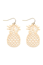 Riah Fashion Pineapple Dangle Earrings - Product Mini Image