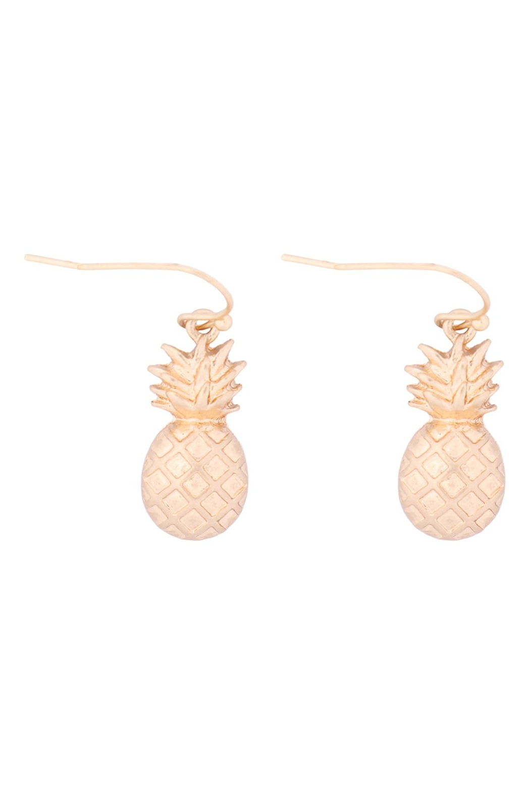 Riah Fashion Pineapple-Fish-Hook-Earrings - Main Image