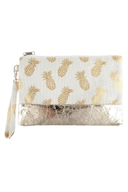 Riah Fashion Pineapple Metallic-Print Wristlet-Bag - Product Mini Image