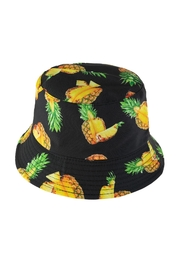 Riah Fashion Pineapple Print Double-Side-Wear Reversible Bucket Hat - Front cropped