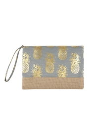 Riah Fashion Pineapple Print Pouch - Product Mini Image